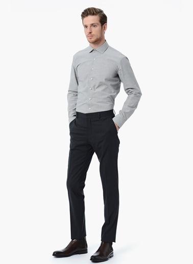 NetWork Slim Fit Uzun Kollu Gömlek Gri